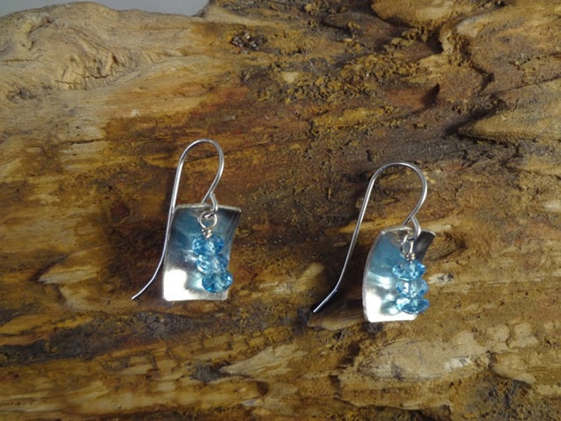 One of a kind hand made sterling silver and natural topaz image 0
