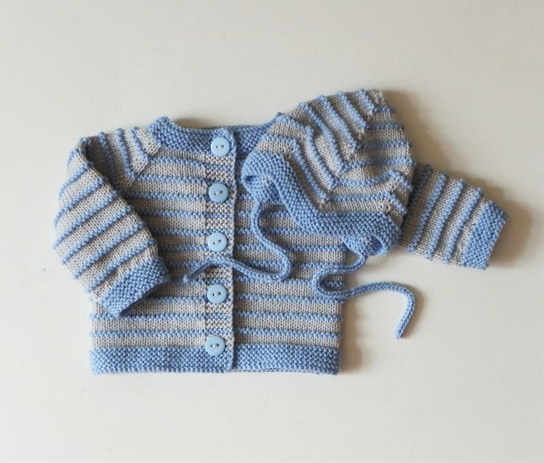 f85d51b3e Knitted baby boy set newborn set baby boy outfit light blue