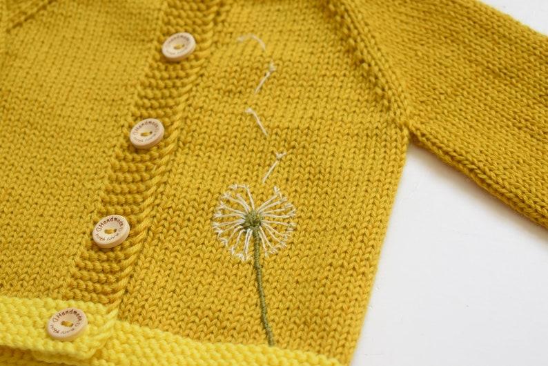 f1871cb7c Baby girl sweater baby girl jacket dandelion sweater bowball