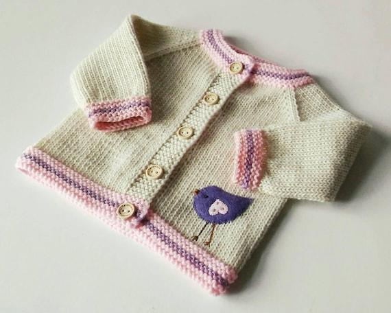 7f8734106 Baby bird sweater organic merino wool sweater knitted baby