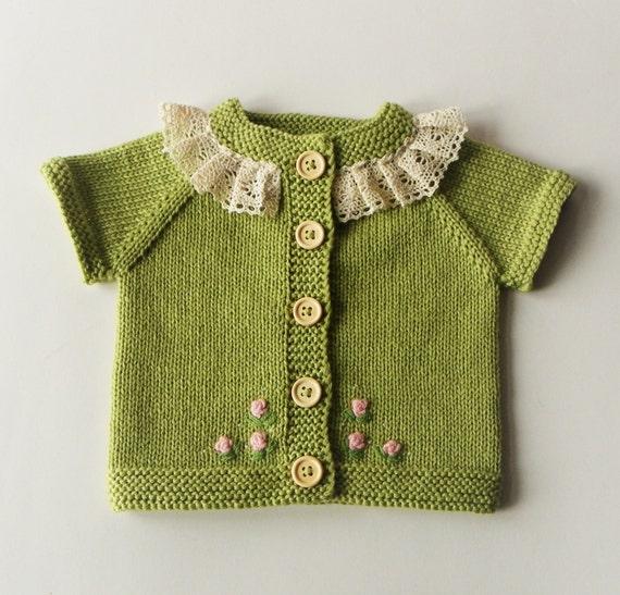 d87ae704b6b Prêt à expédier taille 0-3 mois col tricoté pour bébé gilet