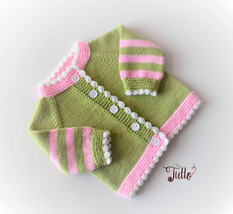 219a2dcef Baby girl sweater baby girl cardigan handknit sweater pink and