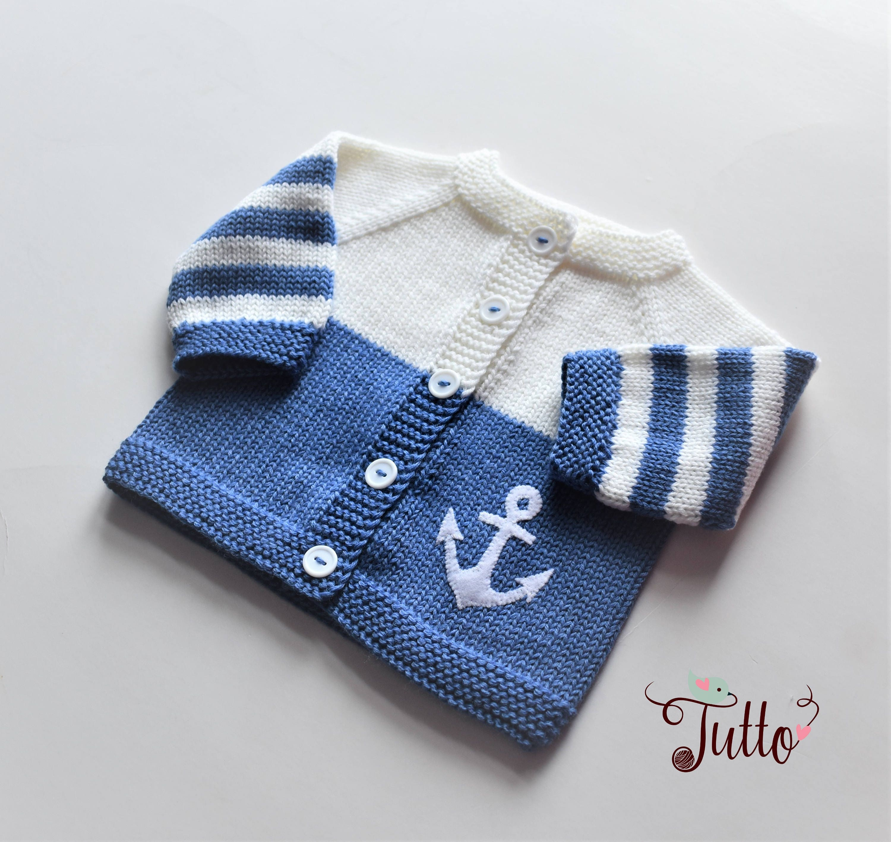 68ee0d62f Anchor sweater sailor sweater wool cardigan baby boy sweater