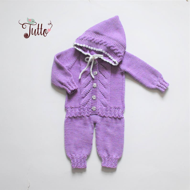 43086dbb0107 Hand knitted baby overall merino romper wool jumpsuit baby