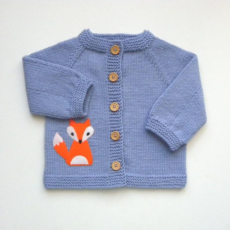 lavander baby jacket fox jacket knit baby merino sweater kids image 1