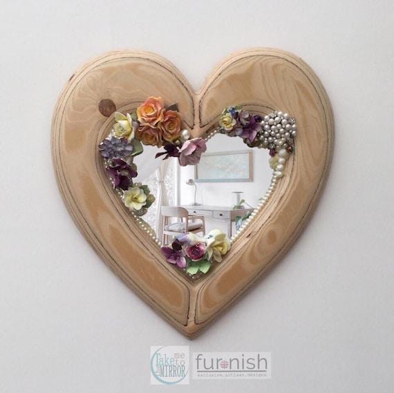 Handcrafted Ceramics Mosaic Heart Shaped Wall Mirror Etsy