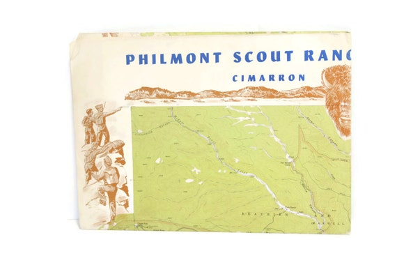 Philmont New Mexico Map.Items Similar To 1969 Philmont Scout Ranch Map Cimarron New