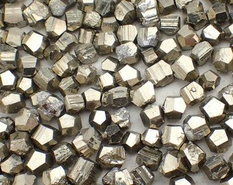 10gm Pyrite from Peru - appx 10 stones / 5-10mm - natural raw stone crystal parcel lot