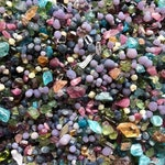 10gm scoop mixed crystals and rough stones - Opal, Spinel, Sapphire, Topaz, Amethyst, Apatite, Tourmaline, Grape Agate, and more/appx 2-12mm