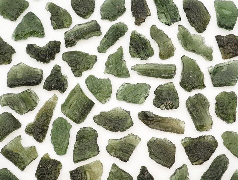 ONE Moldavite genuine stone from Chlum Czech Republic 4.5-5gm chipped