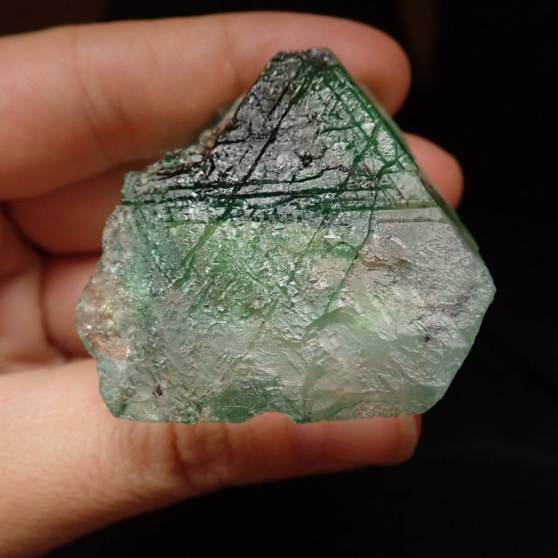 70gm  43mm x 40mm x 22mm F74401 Namibia Fluorite crystal from Erongo mtns