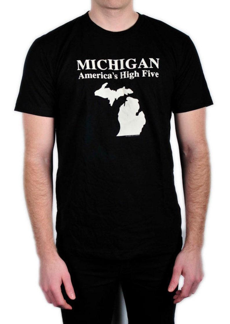 SALE Michigan America's High Five T Shirt image 0