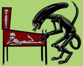 Alien Playing Pinball Scr...