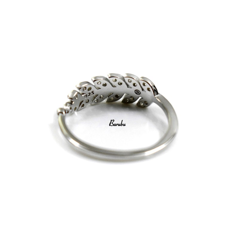 Mothers Day Gifts USA Good Luck Ring SOLID Sterling Silver 925 Cubic Zirconia Adjustable Petite Angel Feather Stackable Midi Finger Ring