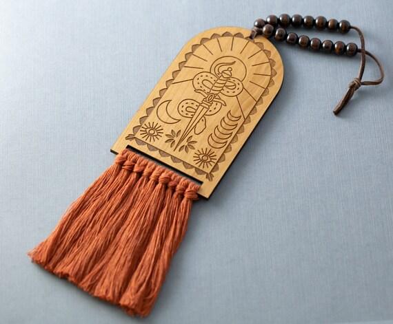 Snake & Dagger Mystic Macrame Door Knob Hanger, Door Decor, Door Ornament, Boho Home Decor, Witchy Decor