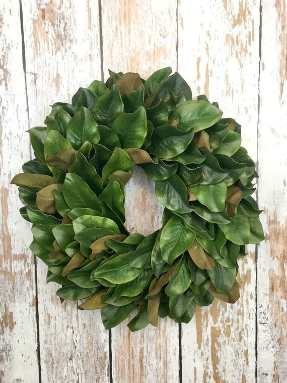 Magnolia Leaf Wreath Faux Magnolia Wreaths For Front Door Etsy