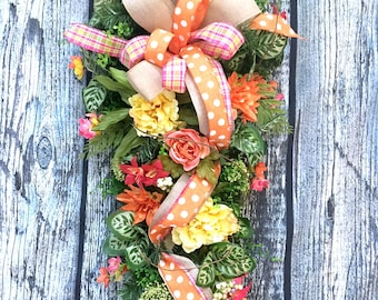 Spring Wreaths For Front Door Wreath Everyday Wreath, Spring Door Wreath  All Season Wreaths For