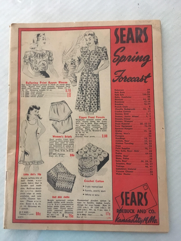 11732c7695 Vintage Sears Roebuck Catalog Spring Forecast Catalog Black
