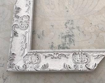 Ornate White Picture Frame - Shabby Chic White Picture Frame- Custom White Frame- Wedding Gift 5x5 5x7 8x10 8.5x11 10x10 11x15 16x20 18x24