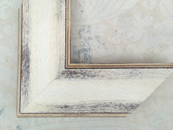 275 Distressed White Picture Frames Beach Decor Etsy