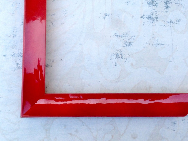 Red Picture Frame - Red Lacquer - Instagram frame, Photo Frame, Diploma  Frame - 4x4, 4x6,5x5, 5x7,8x8, 8x10, 8 5x11, 11x14, 12x12 Custom