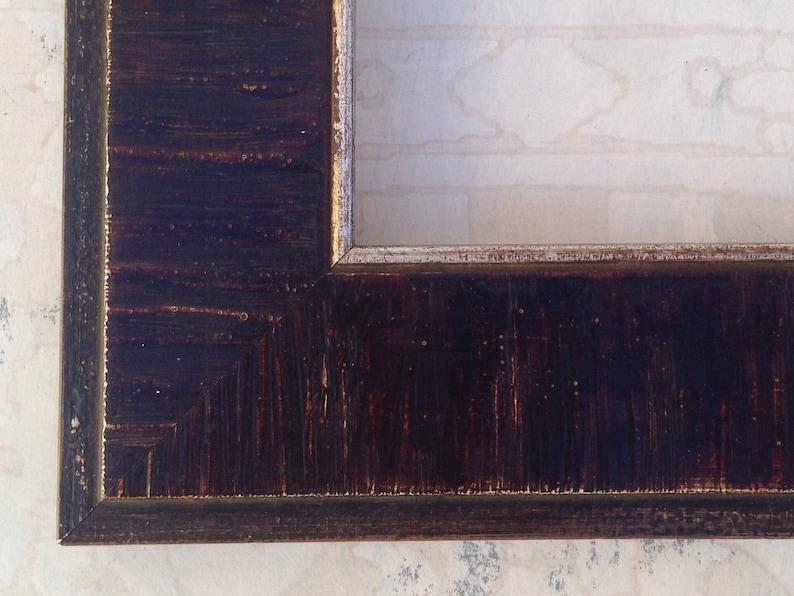 11x14 8.5x11 Distressed Wood Picture Frame 5x7 8x8 Heirloom Family Photo Frame 16x20 24x30 Dark Wood Frame Hand Distressed 8x10