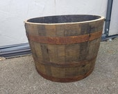 WHISKY OAK BARREL Planter Pot - half cut Wooden Keg Barrels ideal for the garden