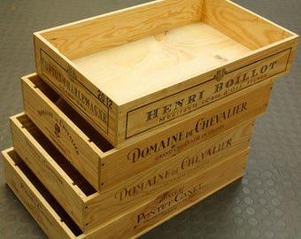 Ideale mestieri Display Box / Organizzatore - 1 x lungo parteggiato mezza taglia tradizionale piatto / vassoio francese in legno vino scatola / cassa / mobile contenitore -