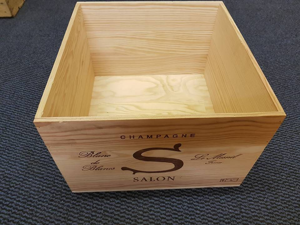 CHAMPAGNE SALON Le Mesnil   Empty Wooden Box / Crate   Large Box For Storage