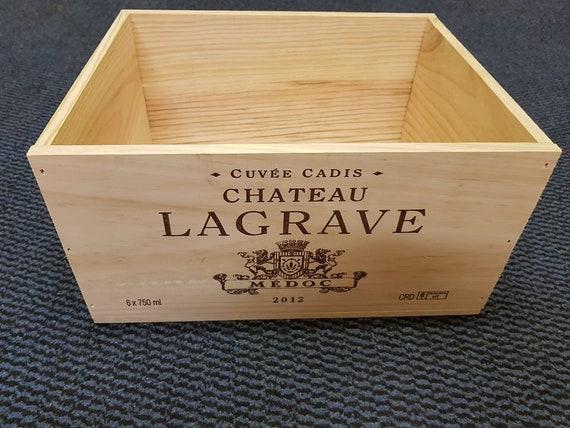 6 x Classique Français en bois vin CAISSES BOÎTES JARDINIERE PANIER tiroirs de stockage///%