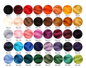 Choose Your Own 10g to 50g Needle and Wet Felting Wool, Merino Wool Tops