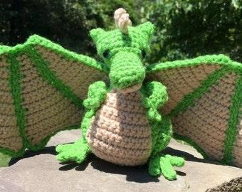 Karlene's Dragon; Amigurumi Crochet Pattern