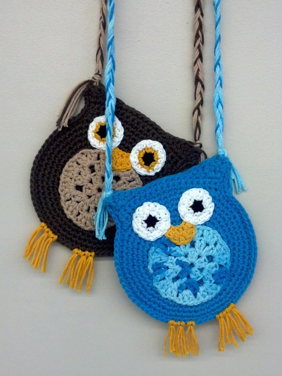 Crochet Pattern Quick And Easy Cute Owl Hipster Purse Tote Etsy