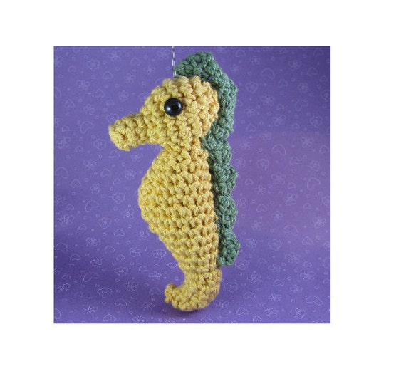 Amigurumi Crochet Pattern Quick And Easy Cute Seahorse Etsy