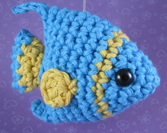 Amigurumi Crochet Pattern - Quick and Easy Cute Angelfish