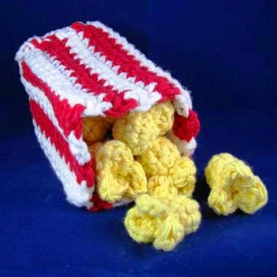 Amigurumi Crochet Pattern Quick And Easy Cute Popcorn And Etsy