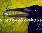 Blue Corn Crow Poster...
