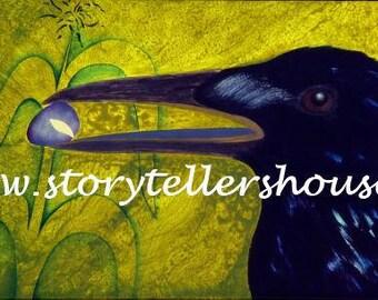 Blue Corn Crow Poster
