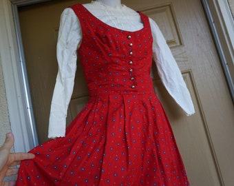 Vintage dress Pink Dirndl dress Evening Graduation dress Jacquard dress Maxi long dress