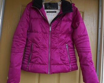 Obermeyer hooded pink ski jacket Ladies size 4 Small by Obermeyer hood  hooded c030a84fa