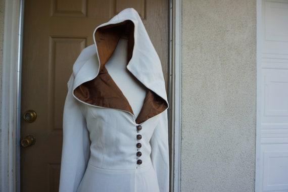 Vintage Hooded robe large kaftan