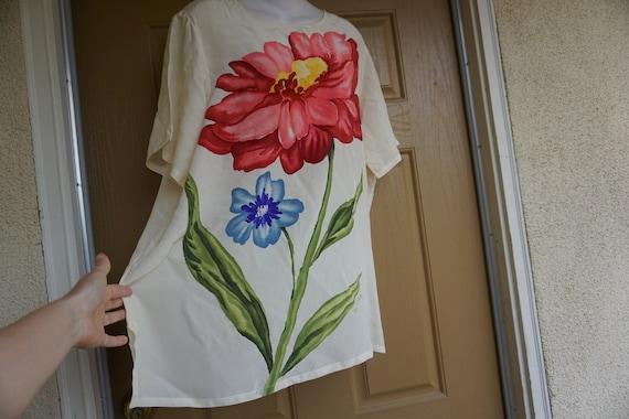 Diane Von Furstenberg silk blouse size Large shirt