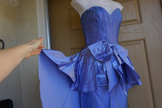 Small strapless sweetheart party dress 80s 1980s T