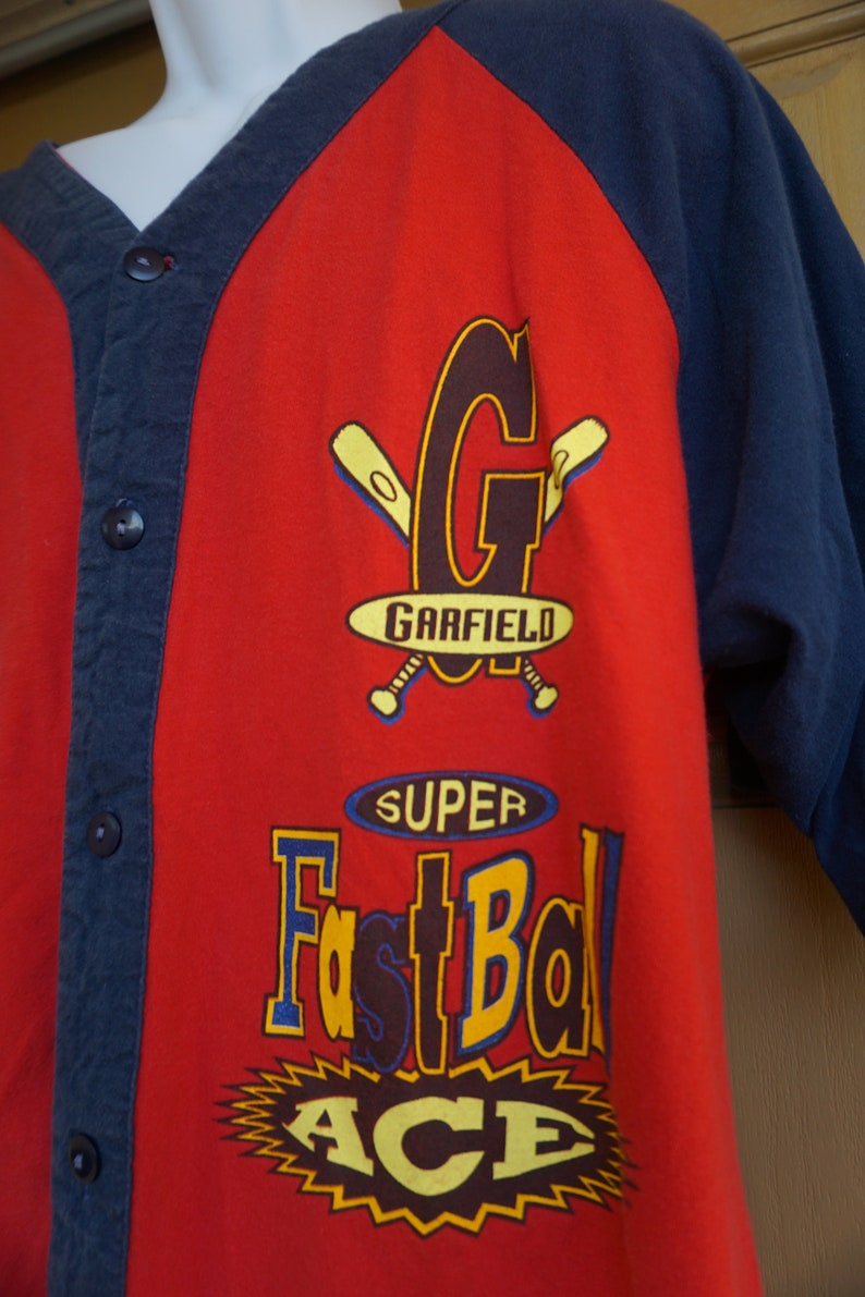 1978  Garfield Baseball Large L 1970s vintage shirt