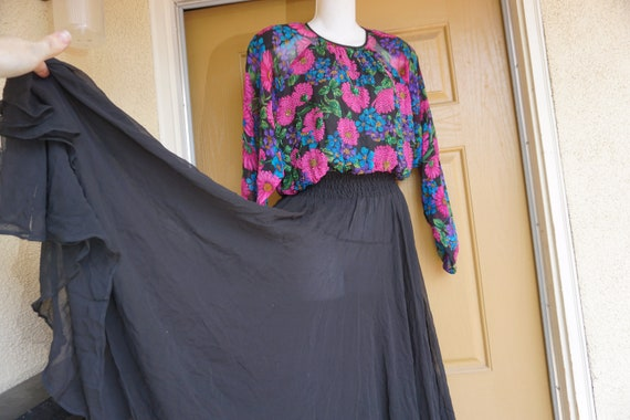 Diane Fres size L Large dress 1980s 1990s silk