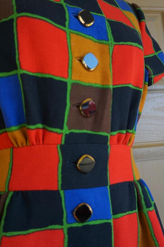 ARNOLD SCAASI desiger dress Vintage heavy knit dr… - image 3
