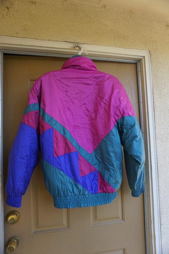 Vintage 1980s or 90s  nylon / polyester ski jacke… - image 4