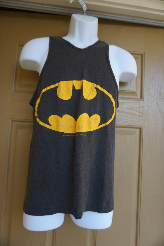 Single stitch Batman mens size Medium tank top