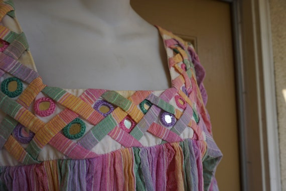 RAMONA RULL pastel Rainbow mirrored striped print… - image 7