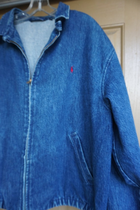 Vintage Polo by Ralph Lauren RL denim jacket size… - image 3